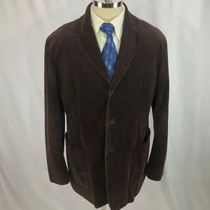 Donna Karan New York Men's Brown Corduroy Blazer L